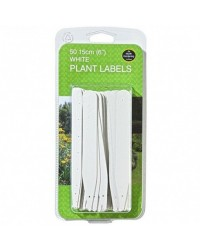 White Plant Labels 15cm 25Pcs Garland
